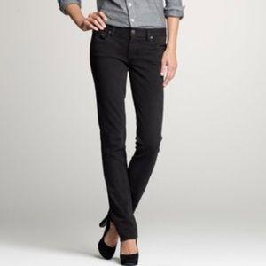 J. Crew Matchstick Straight Leg Jeans in Black